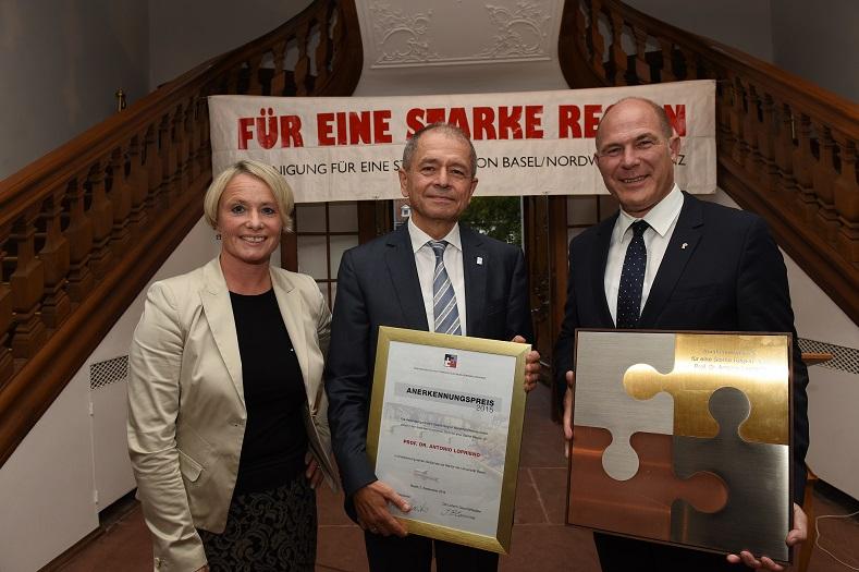 Anerkennungspreis für eine Starke Region Basel an Prof. Dr. Antonio Loprieno