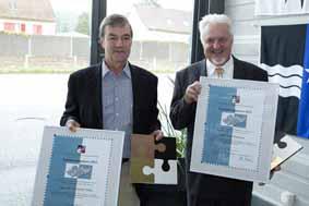Förderpreis 2012 für eine Starke Region Basel an Paul Messmer und Christoph Stutz.