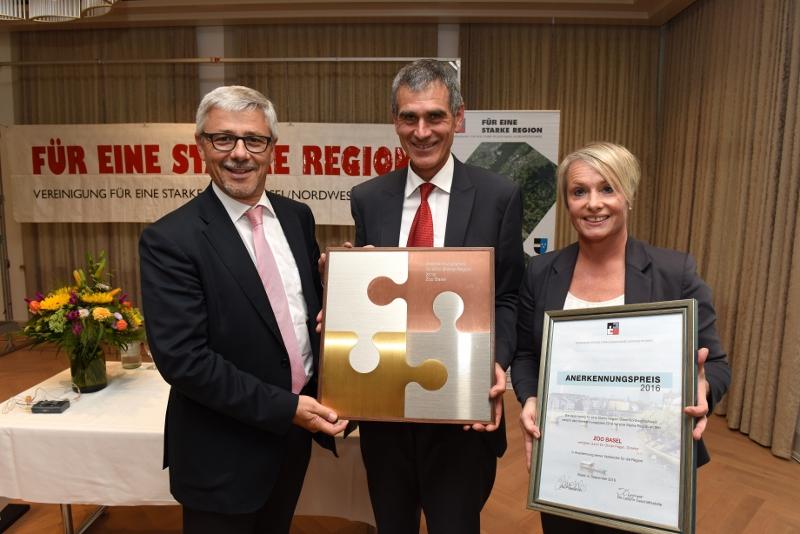 Anerkennungspreis 2016 für eine Starke Region Basel an den Zoo Basel
