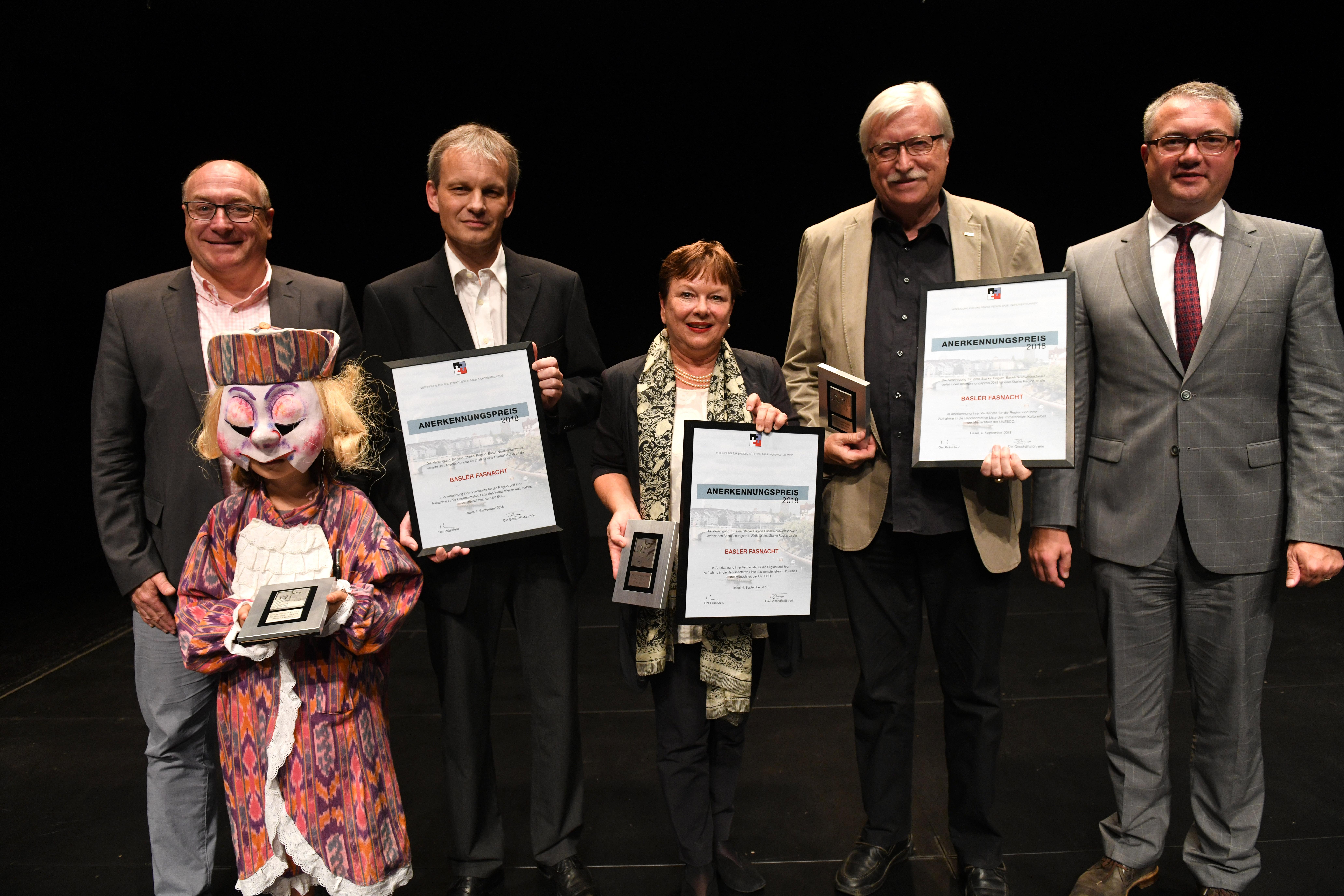 Anerkennungspreis für eine Starke Region 2018 an die Basler Fasnacht