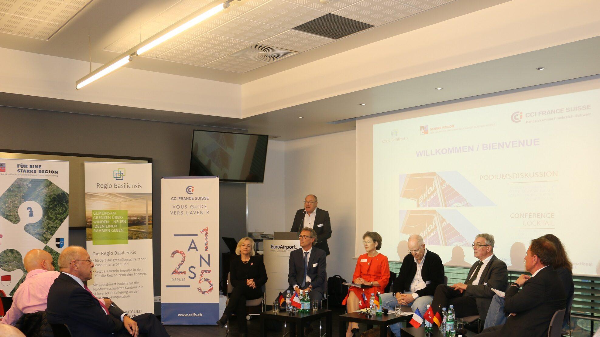 Podium diskutiert die Spannungsfelder um den EuroAirport Basel-Mulhouse