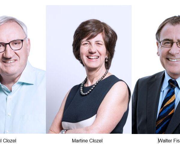 Anerkennungspreis für eine Starke Region 2021 an Martine und Jean-Paul Clozel und Walter Fischli